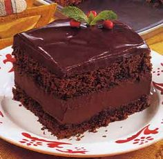 Mocha Layer Cake with Chocolate-Rum Cream Filling recipe