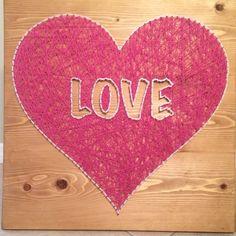 Love heart string art  - Order from KiwiStrings on Etsy! ( www.KiwiStrings.etsy.com )