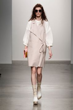 Great tunic + love the volume and shape of those shirt sleeves - Karen Walker F2013 - via style.com