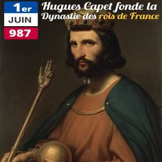 Le 1er juin 987, Hugues Capet devient Roi des Francs. Il est le premier souverain de la dynastie qui va régner sur la France pendant prés de 9 siècles : avec une interruption pendant la Révolution, les capétiens se succèdent sur le trône jusqu'en 1848 ! Lors de la Révolution, Louis XVI qui a perdu sa couronne, retrouve le nom de famille de son lointain ancêtre et comparait à son procès sous le nom de Louis Capet –