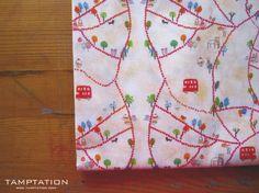 Tamptation design fabric - london bus (FB)