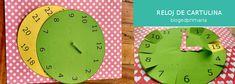 Reloj de cartulina. Recurso para aprender a leer la hora Clock, Teaching Reading, Curriculum Design, Primary Education, Card Stock, Watch, School, Clocks