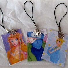 DIY Fan-art phone charms