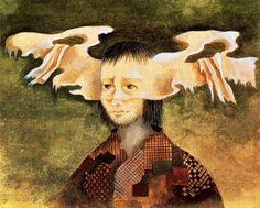 Remedios Varo - 1958 – The Poor (gouache) Dorothea Tanning, Female Painters, Venetian Masquerade, Mexican Artists, Surreal Art, Pretty Pictures, Gouache, Rainbow Colors, Modern Art