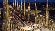 Koncert na dachu katedry w Mediolanie