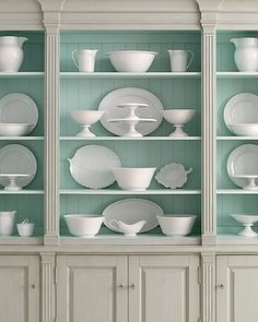 beautiful shelves - Image from House Beautiful Magazine.