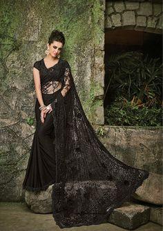 Black Beauty Slik Saree