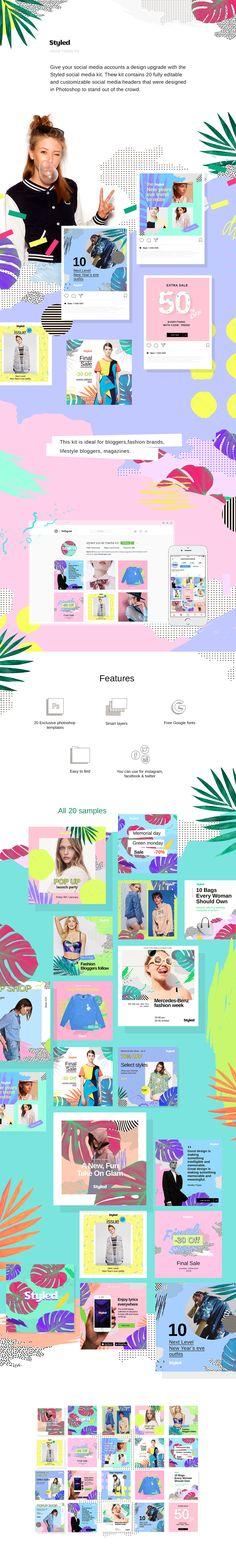 Styled Social Media kit on Behance