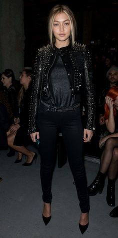This looks a heck of a lot like the jacket you designed in college - No? From Cara Delevingne to Claire Danes, see how these 12 celebrities style their leather jackets.