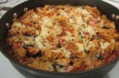 Southwest Chicken Pasta Skillet
