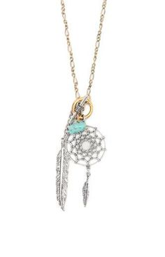 With Love From CA Dreamcatcher Charm Necklace #pacsun bought this for @Michelle Flynn Rose