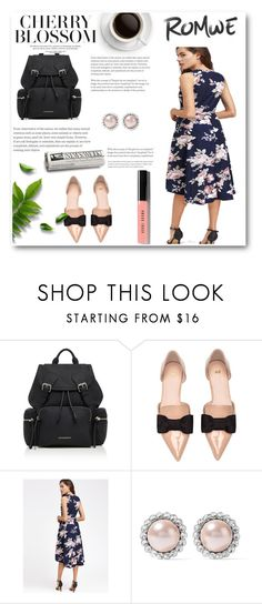 """Romwe"" by hibridi ❤ liked on Polyvore featuring Burberry, Miu Miu and Bobbi Brown Cosmetics"