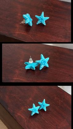 Hey, I found this really awesome Etsy listing at https://www.etsy.com/listing/228311511/blue-starfish-studs-from-polymer-clay
