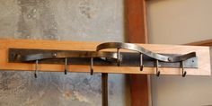 Wall Mounted Pot Rack Coat Rack Contemporary by ArtisansoftheAnvil, $190.00