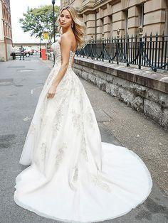 7d11d5d2acc93 DESI 2 lace up back strapless lace and tulle ballgown wedding dress Luv  Bridal Brisbane Australia