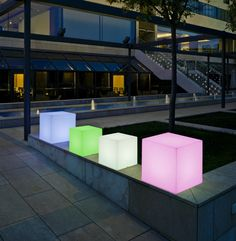 7 best quirky outdoor lighting images on pinterest exterior a unique colour changing cube shaped light to highlight the favourite parts of your garden outdoor lighting doesnt get cooler than this aloadofball Images