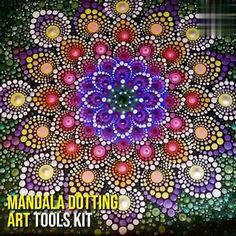 Plant it and (ALMOST) forget it! This garden is filled with tough-as-nails perennials that come back Dot Painting Tools, Stone Art Painting, Dot Art Painting, Rock Painting Designs, Painting Patterns, Mandala Canvas, Mandala Artwork, Mandala Painting, Mandala Painted Rocks