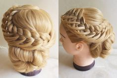 More views (looped braid updo)
