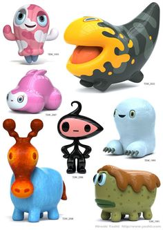 Hiroshi Yoshii的怪物玩偶作品