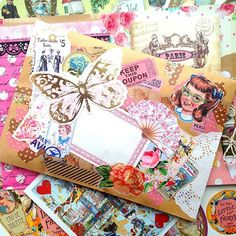 Mail art - art journal collage inspiration.