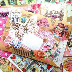 Mail art - art journal collage inspiration.
