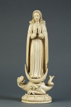 Virgin of the Immaculate Conception,c.1650. Carved ivory. Probably made in either Goa or Sri Lanka. The Victoria and Albert Museum, London.