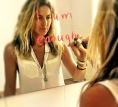 "Repeat After Me, ""I am enough"". Kay Wilson, I Am Enough, Thats Not My, Hair Styles, Blog, Beauty, Hair Plait Styles, Hair Makeup, Hairdos"