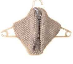 Hand Knitted Cowl in Light Brown by naryaboutique on Etsy, $32.00