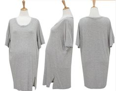 ce7a2ff3538 PW096 2015 clothes for pregnant women of Modal cotton short sleeve round  neck dress skirt maternity