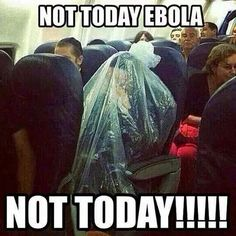 Bahahaha, smart move dude. Not today Ebola.