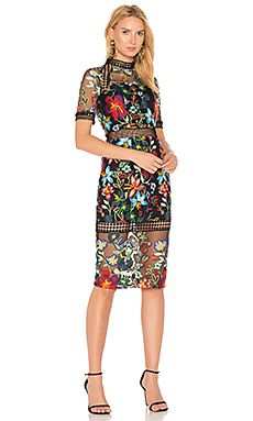 Shop for VONE Sheath Lace Dress in Red Multi Floral at REVOLVE. Free day  shipping and returns, 30 day price match guarantee.