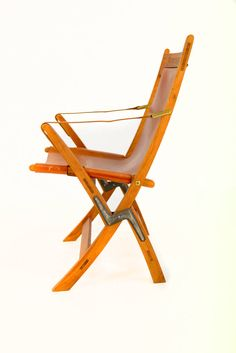 Jens Quistgaard; Teak, Leather and Brass 'SAX' Folding Chair, 1970s.