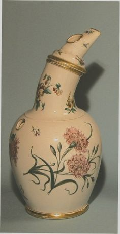 hand-painted late eighteenth century ceramic inhaler by Rorstrand