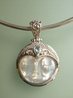 Buddha face Mother of Pearl Pendant