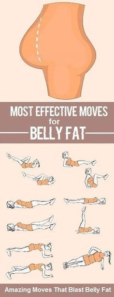 Most effective moves for belly fat