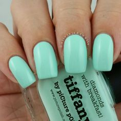 piCture pOlish = 'Tiffany' worn by Oliva Jade Nails LOVE thank you Tracy :) www.picturepolish.com.au