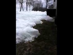 ▶ Ice Tsunami..Glacier like ice moving across Mille Lacs lake, damaging houses, Minnesota - YouTube - YouTube