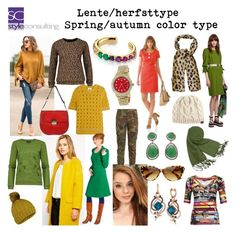 """Lente/herfsttype. Spring/autumn color type."" By Margriet Roorda-Faber, Style Consulting."