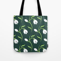 Spring Snowdrop Pattern Tote Bag by pixaroma Laptop Skin, Print Patterns, Travel Tips, Iphone Cases, Reusable Tote Bags, Mugs, Pillows, Spring, Stuff To Buy