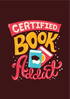 Literary gifts for book lovers: Certified book addict poster I Love Books, Good Books, Books To Read, My Books, Reading Quotes, Book Quotes, Book Sayings, Literary Gifts, I Love Reading