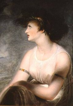 """Richard Westall Lady Hamilton as Sappho Portrait often erroneously identified as the artist's wife. """"Even Westall could not vulgarise her as St. Cecilia and Sappho."""" (Walter Sichel, 'Emma, Lady Hamilton') Thomas Gainsborough, William Hogarth, Pre Raphaelite, Oil Painting Reproductions, Grand Tour, Women In History, 18th Century, Amazing Women, Mona Lisa"""