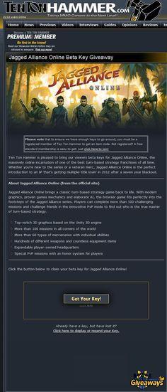 Jagged Alliance Online - Ten Ton Hammer Closed Beta Key Giveaway