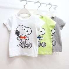 Kids clothing wholesale 2013 summer new arrival boys and girls cartoon SNOOPY short-sleeve T-shirt Free top shipping 5pcs/lot