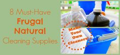 8 Must-Have Frugal Natural Cleaning Supplies | TheSweetPlantain.com