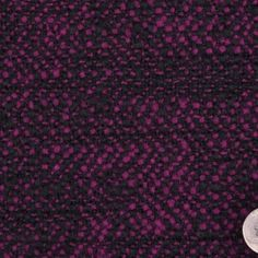 Black/Bright Plum Solid Double Face