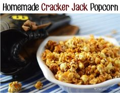 Homemade Cracker Jack Popcorn Recipe! #crackerjacks #recipes