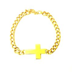 Chunky Gold Cross Necklace-£6 #prettytwisted #necklace http://prettytwistedonline.co.uk/product/chunky-cross-choker/