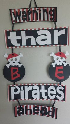 Pirate Inspired Door Sign by SweetPistolRose on Etsy, $18.00