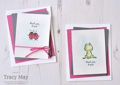 Love You Lots from Stampin' Up! Watercolour notecards Tracy May