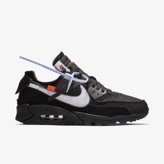 Off-White x Nike Air Max 90 Black - Grailify Sneaker Releases Nike Air Max, Air Max 90 Black, Wholesale Nike Shoes, Sneaker Release, Shoe Collection, Off White, Sneakers Nike, Mens Fashion, Watches
